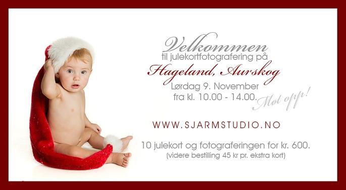 Julekortfotografering på Hageland!